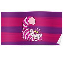 Cheshire Cat Stripe - Alice in Wonderland Poster
