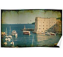 Old Town Harbor, Dubrovnik Poster