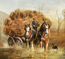 The Hay Wagon by Trudi's Images