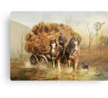 The Hay Wagon Metal Print