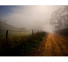 Retreat Valley Road, Gumeracha early morning in Autumn Photographic Print