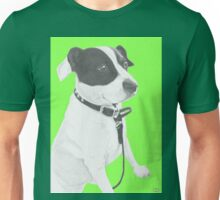 Jack Russell Crossbreed in green Unisex T-Shirt