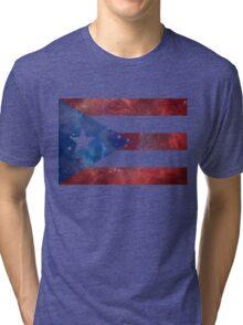 Puerto Rico Bandera Nebula Tri-blend T-Shirt