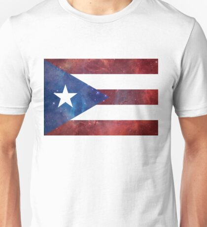 Puerto Rico Bandera Nebula Unisex T-Shirt