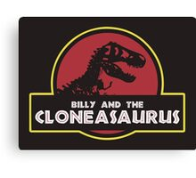 Billy and the Cloneasaurus shirt – The Simpsons, Jurassic World, Jurassic Park, Homer Simpson Canvas Print