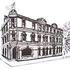 Kensington/Flemington, Melbourne Victoria. Doutta Galla Hotel, Racecourse Rd. Flemington. by Elizabeth Moore Golding