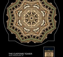THE CUSTOMS TOWER, BOSTON MA. by PhotoIMAGINED