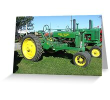 Old John Deer Tractor Greeting Card