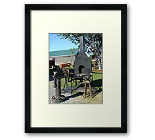 Antique Black Smith Equipment Framed Print
