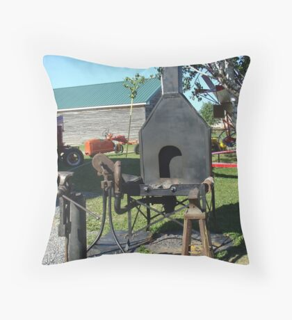 Antique Black Smith Equipment Throw Pillow
