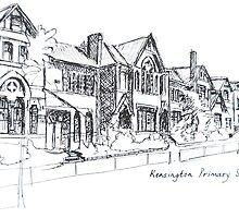 Kensington Primary School Melbourne. Elizabeth Moore Golding 1993 by Elizabeth Moore Golding