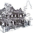 Kensington, Melbourne. Ormond Street houses. by Elizabeth Moore Golding