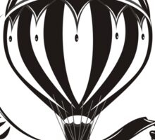 vintage hot air balloon  Sticker