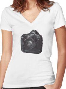 Dreamer Camera Photographer Women's Fitted V-Neck T-Shirt