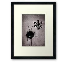 Evil Flower Bug Vintage Framed Print