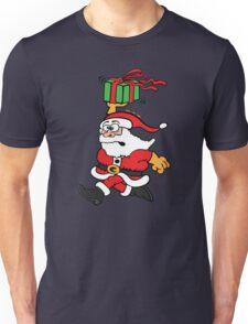 Santa Claus in a Hurry Unisex T-Shirt