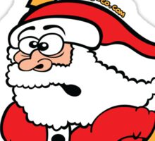 Santa Claus in a Hurry Sticker