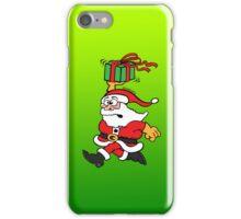 Santa Claus in a Hurry iPhone Case/Skin