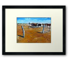 A painting inspired by Carisbrooke Station Framed Print
