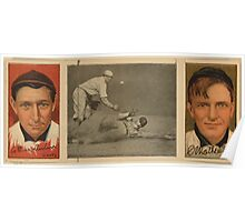 Benjamin K Edwards Collection Arthur Devlin Christopher Mathewson New York Giants baseball card portrait Poster
