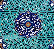 Turquoise Mosaic Pattern on Mosque by Georgina Steytler