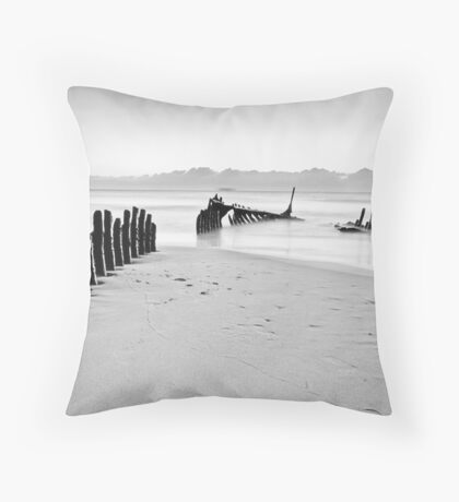 Sunrise - SS Dicky Shipwreck Throw Pillow