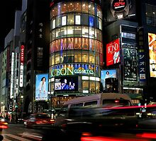 Big City Lights - Life on Ginza Street, Tokyo by Haggiswonderdog