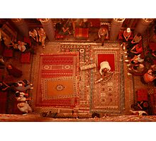 Carpet sellers in Morocco Photographic Print