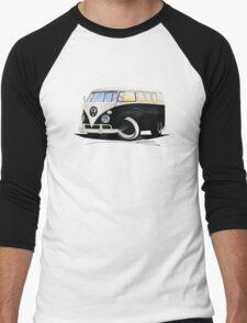 VW Splitty (11 Window) Black Men's Baseball ¾ T-Shirt