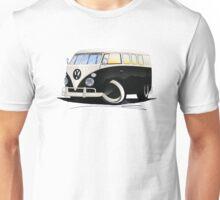 VW Splitty (11 Window) Black Unisex T-Shirt