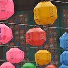 Colorful Lanterns In The Rain by Christian Eccleston