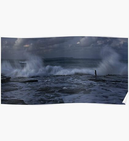 Wild Weather At Norah Head Rockpools Poster