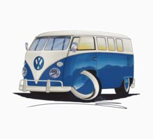 VW Splitty (11 Window) Blue by Richard Yeomans