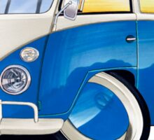 VW Splitty (11 Window) Blue Sticker