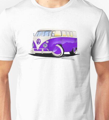 VW Splitty (11 Window) Purple Unisex T-Shirt