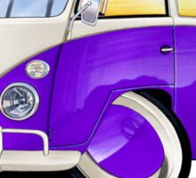 VW Splitty (11 Window) Purple Sticker