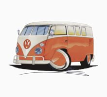 VW Splitty (11 Window) Orange by Richard Yeomans