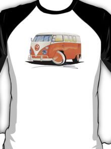 VW Splitty (11 Window) Orange T-Shirt