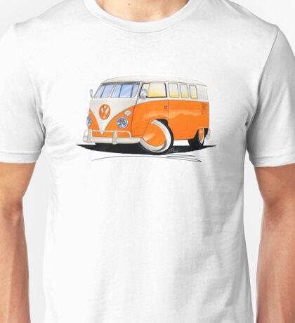 VW Splitty (11 Window) Orange Unisex T-Shirt