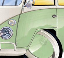 VW Splitty (11 Window) Pale Green Sticker
