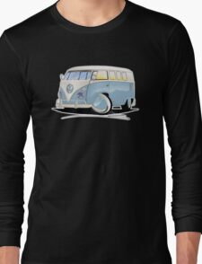 VW Splitty (11 Window) Pale Blue Long Sleeve T-Shirt