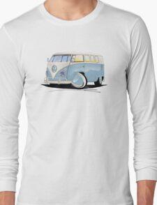 VW Splitty (11 Window) Pale Blue Long Sleeve T-Shirt