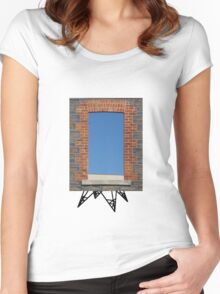 Window with legs Women's Fitted Scoop T-Shirt