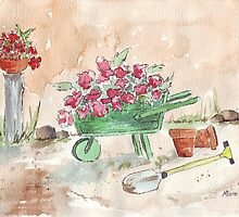 Working in the garden... by Maree  Clarkson