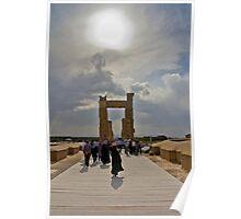 The Entrance to The Palace at Persepolis - Iran Poster
