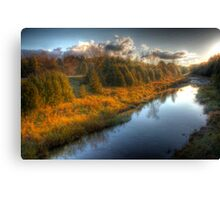 Glowing River Canvas Print