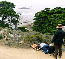 #987 Painting In Point Lobos by MyInnereyeMike