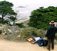 #987 Painting In Point Lobos by MyInnereyeMike