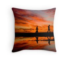 Walking into the Fire Throw Pillow
