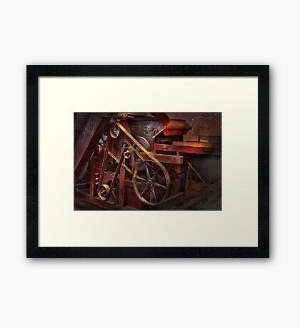 Steampunk - Gear - Belts and Wheels  Framed Print